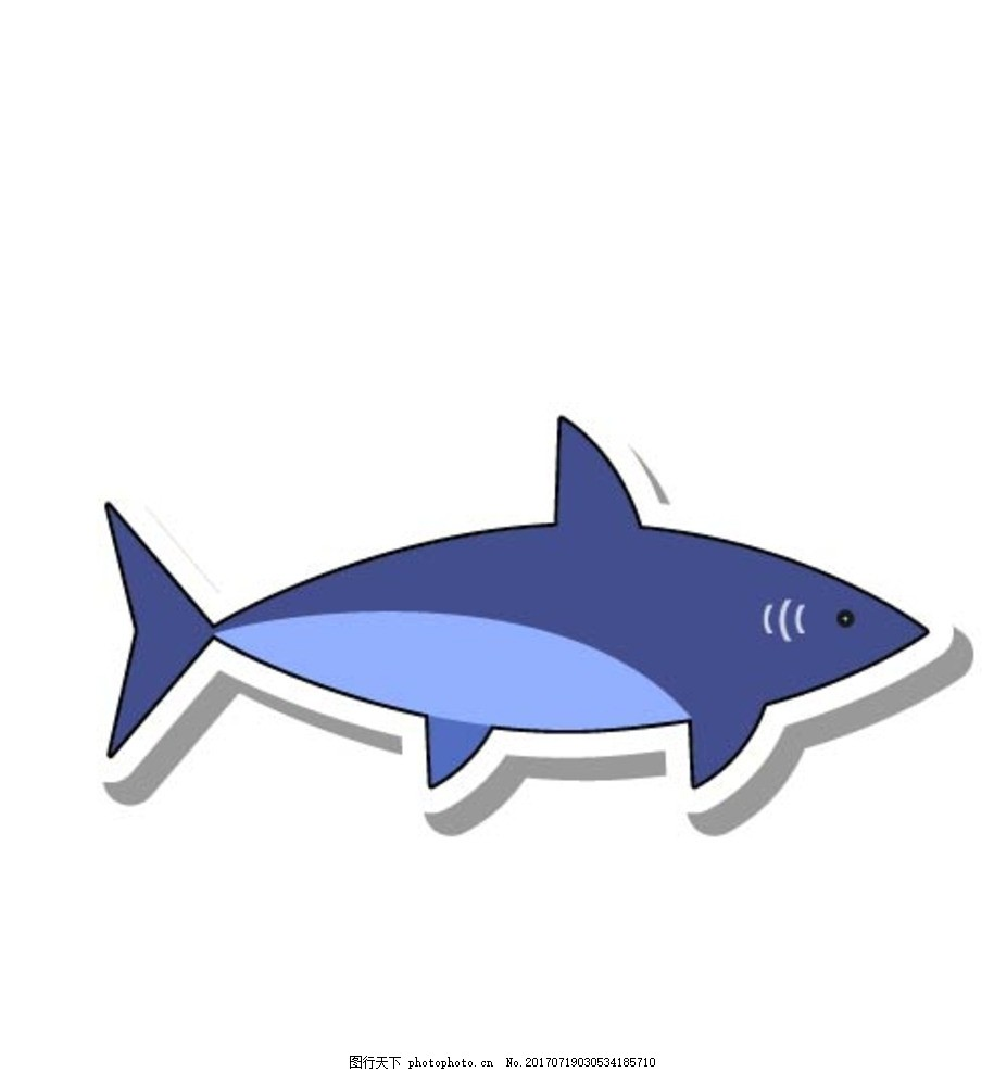 卡通鲨鱼 卡通动物 动漫卡通 可爱 贺卡 动物插画 儿童绘本 儿童画画