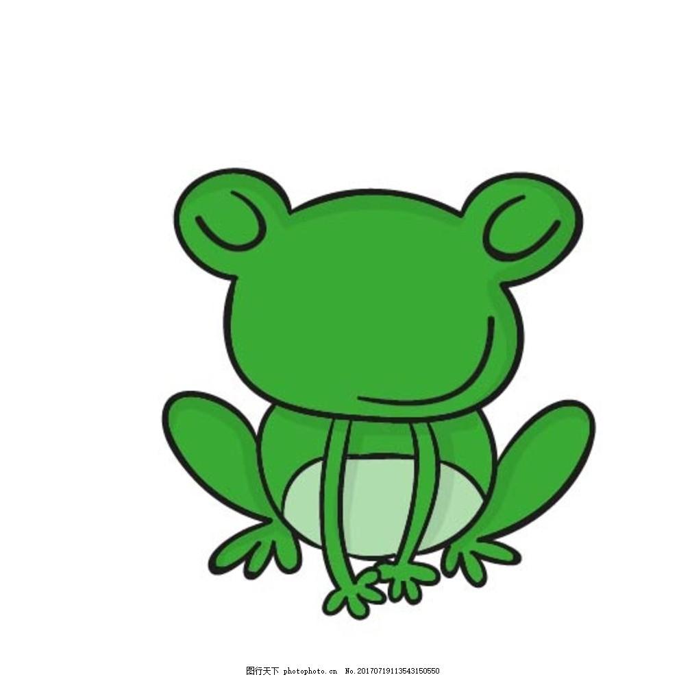 卡通青蛙 卡通动物 动漫卡通 可爱 贺卡 动物插画 儿童绘本 儿童画画