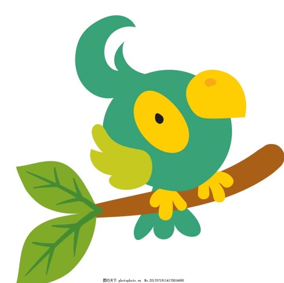 卡通鸟 卡通动物 动漫卡通 可爱 贺卡 动物插画 儿童绘本 儿童画画