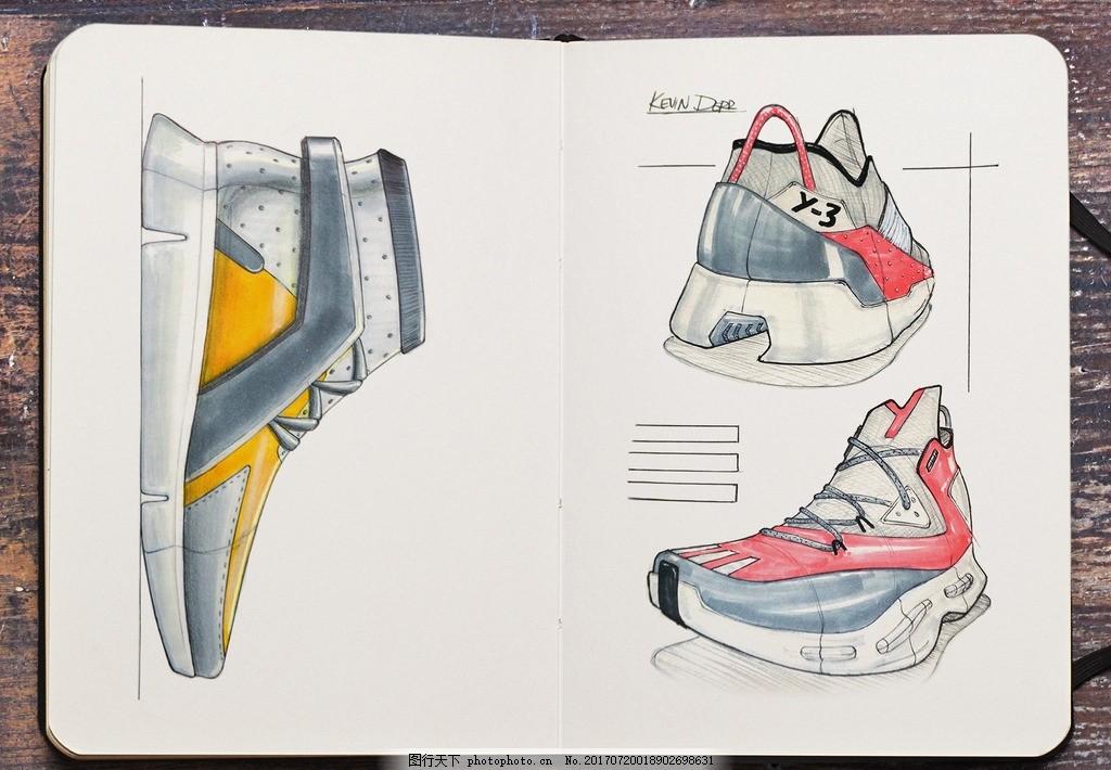 鞋子 手稿图 设计 彩铅 jpg 设计 文化艺术 体育运动 72dpi jpg