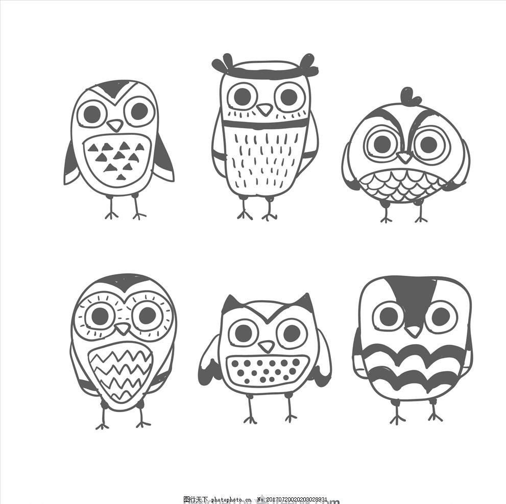 儿童画 翠鸟 卡通小鸟 鸟类 花鸟矢量图 卡通动物 动漫卡通 可爱 贺卡