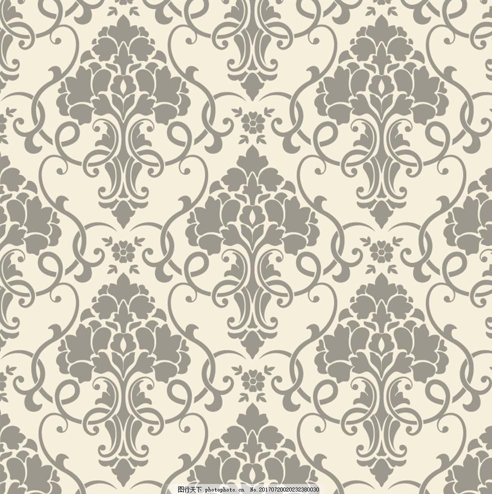 淡雅花纹 欧式花纹 传统花纹 古典花纹 植物花纹 藤蔓花纹 菱形花纹