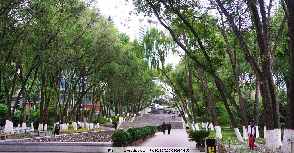 健康步道 青海省 西宁市 人民公园 清晨 风景 风光 摄影 旅游摄影