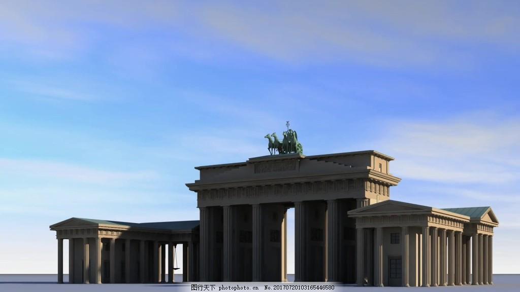 欧式罗马柱建筑视频