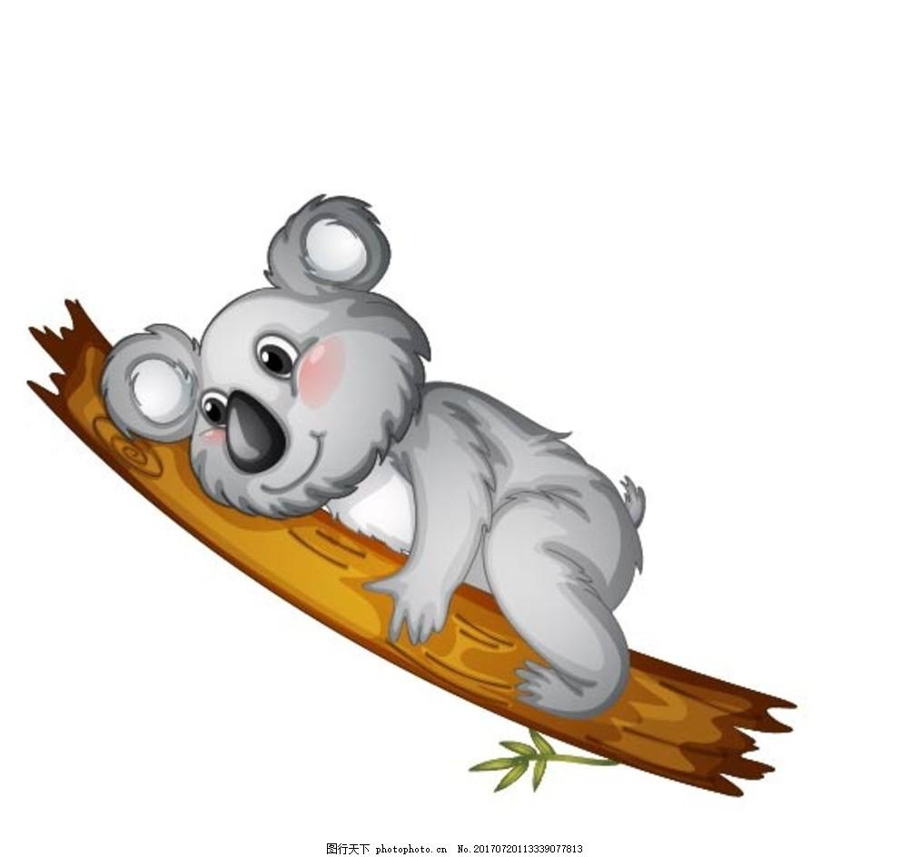 卡通考拉,卡通动物 动漫卡通 可爱 贺卡 动物插画-图