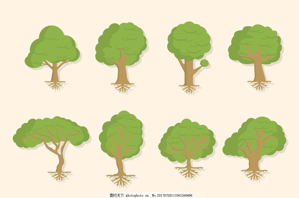 卡通树 盆栽 盆景 园艺 园林 防辐射 植物 花草 绿色植物 盆景海报