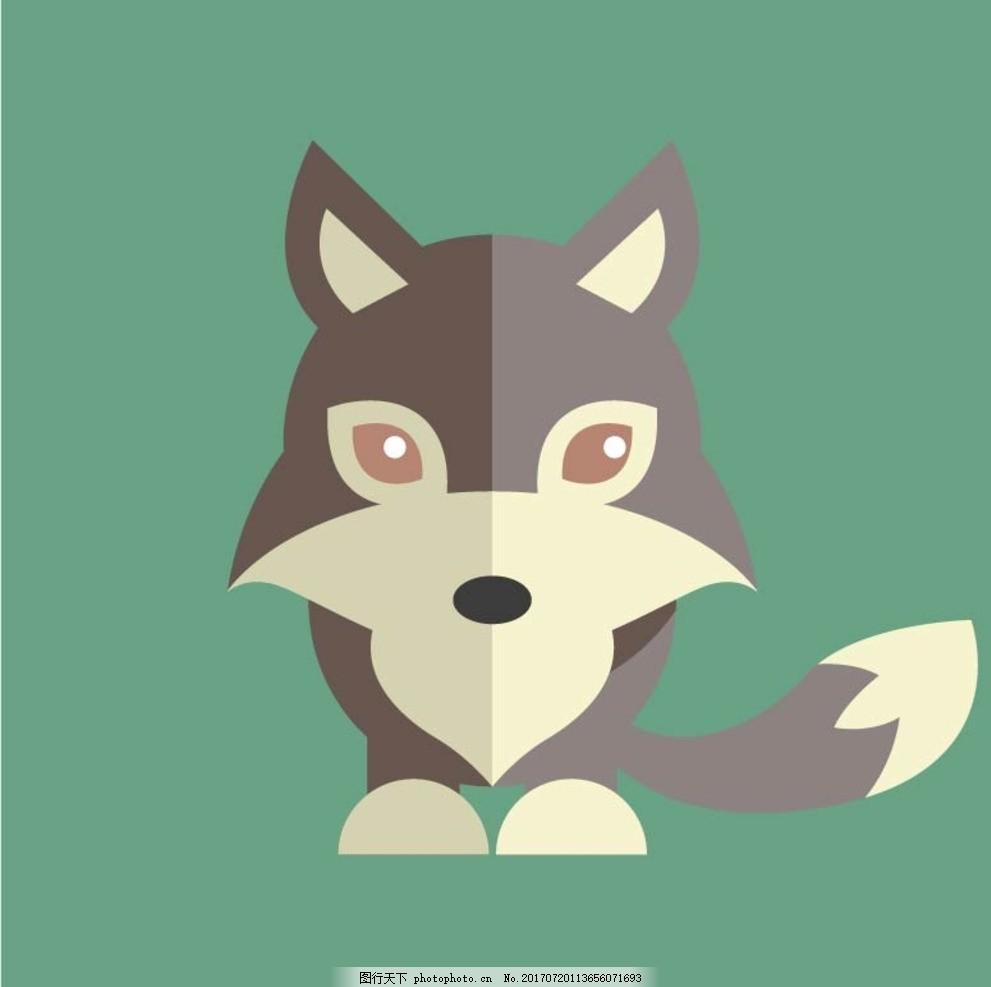 设计图库 商用素材 食品饮料  卡通动物 动漫卡通 可爱 贺卡 动物插画