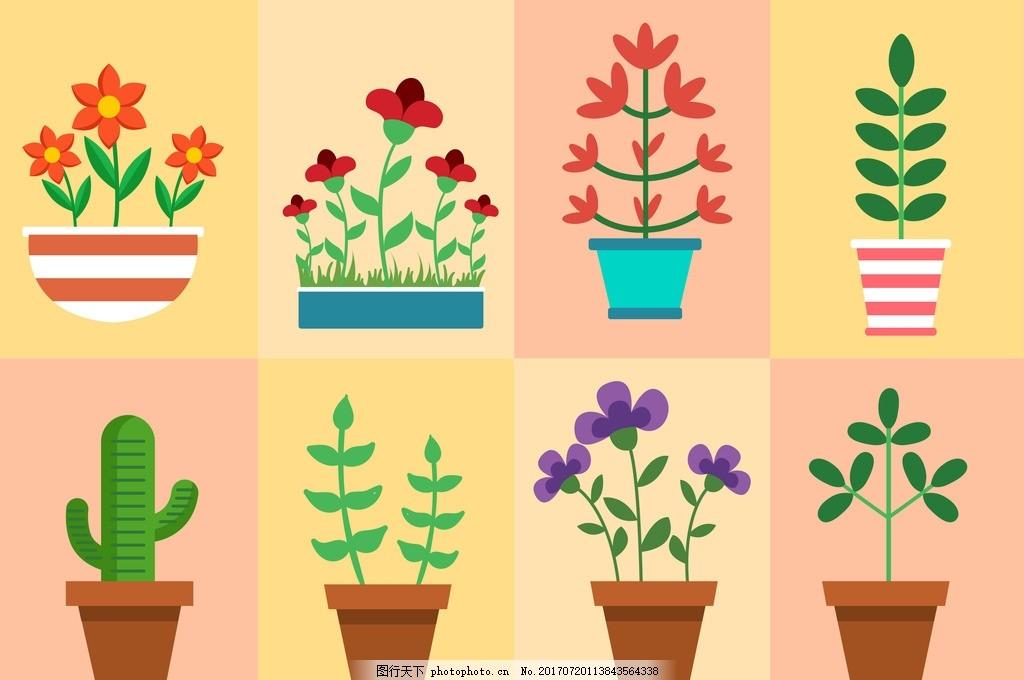 仙人掌 盆栽 盆景 园艺 园林 防辐射 植物 花草 绿色植物 盆景海报