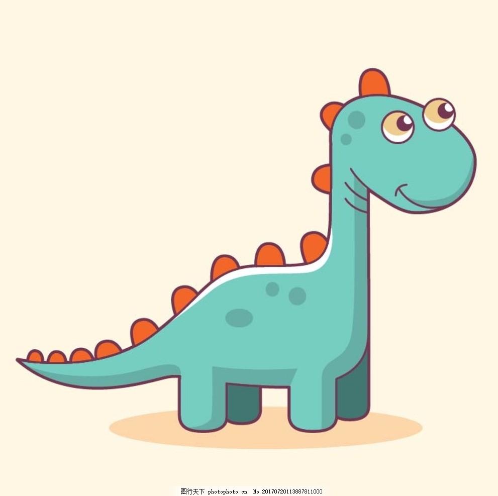卡通恐龙,卡通动物 动漫卡通 可爱 贺卡 动物插画-图