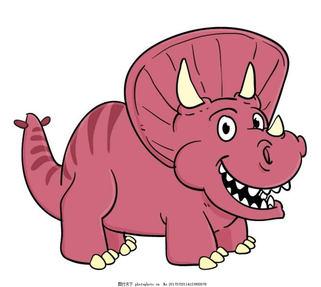 扁平动物 矢量扁平动物 矢量图 卡通漫画 q版动物 贴纸 卡通恐龙 设计