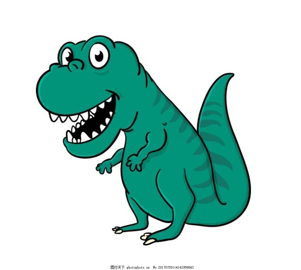 卡通恐龙 卡通动物 动漫卡通 可爱 贺卡 动物插画 儿童绘本 儿童画画