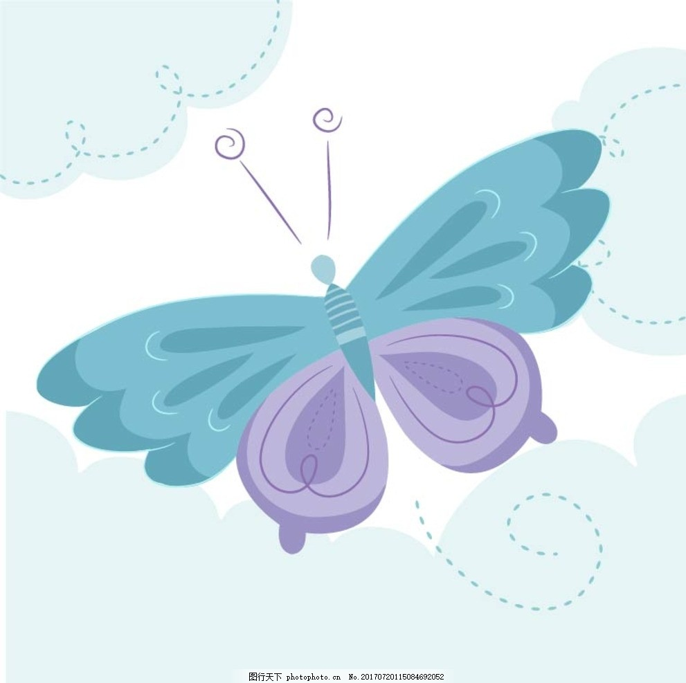 画画蝴蝶步骤图片