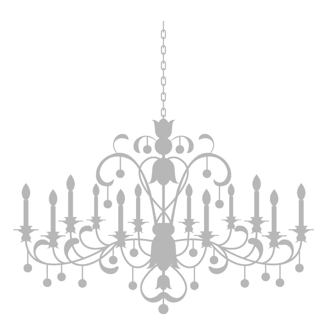 手绘灰色吊灯元素 手绘 线条 花纹 欧式吊灯 水晶灯 png 免抠 素材 pn