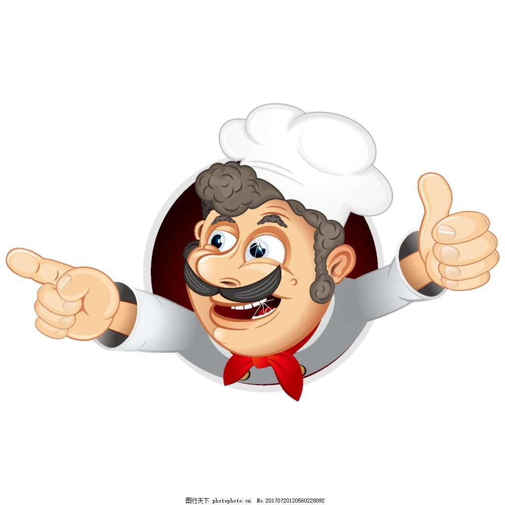 手绘厨师图标元素