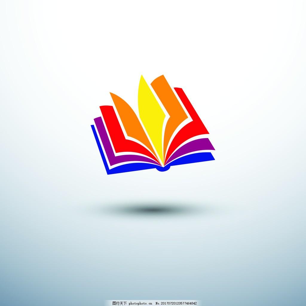 书本图标彩色书籍icon矢量 企业背景 简约 蓝色 扁平化 阅读