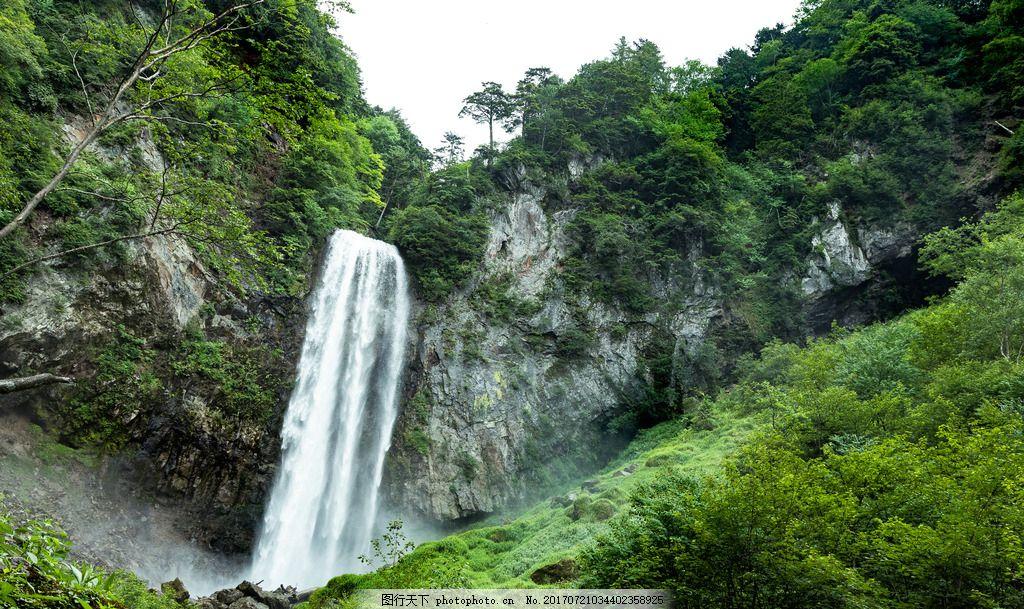 山间瀑布 风景 流水 高山 照片 摄影 自然风景 户外 森林 公园