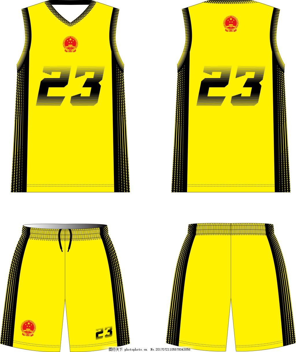 篮球服队服套装_服装设计_现代科技_图行天下图库