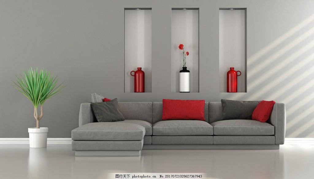 简约欧式客厅效果图 现代时尚客厅效果图 沙发 茶几 时尚家具 客厅