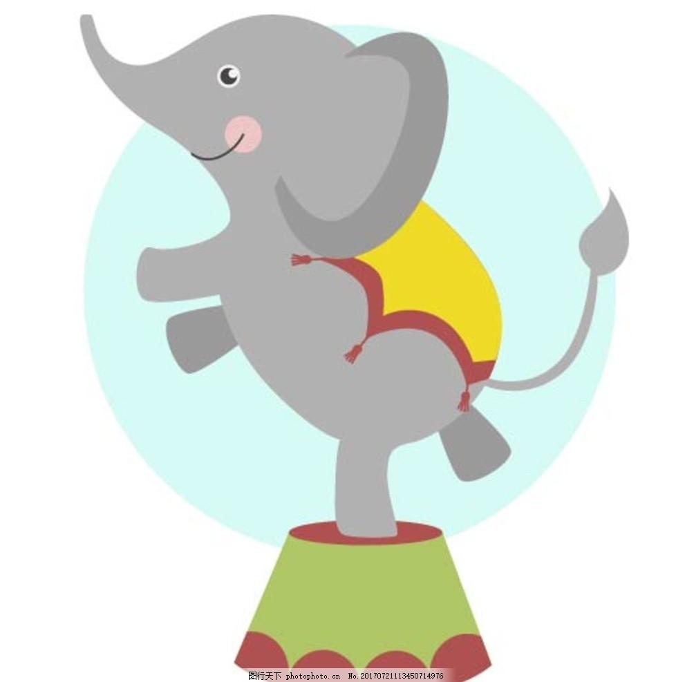 泰国大象卡通图片