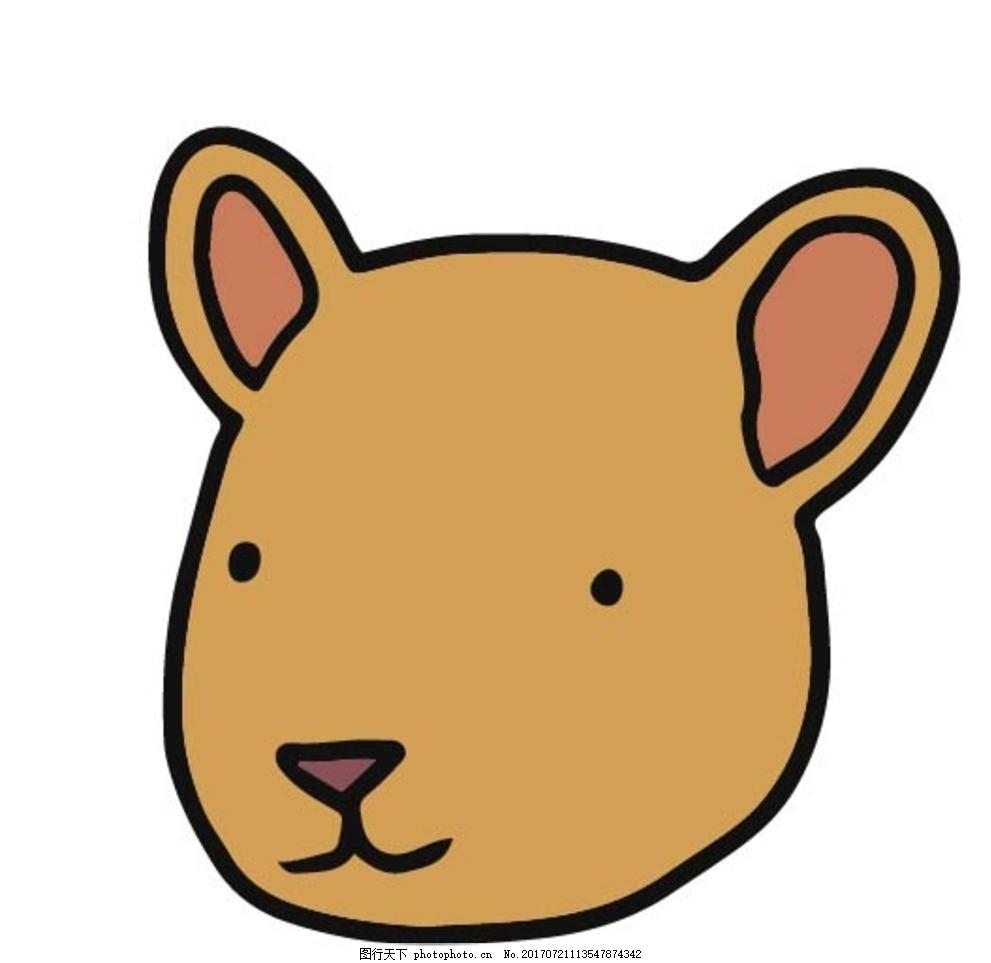卡通动物漫画 扁平动物 矢量扁平动物 矢量图 卡通漫画 q版动物 贴纸