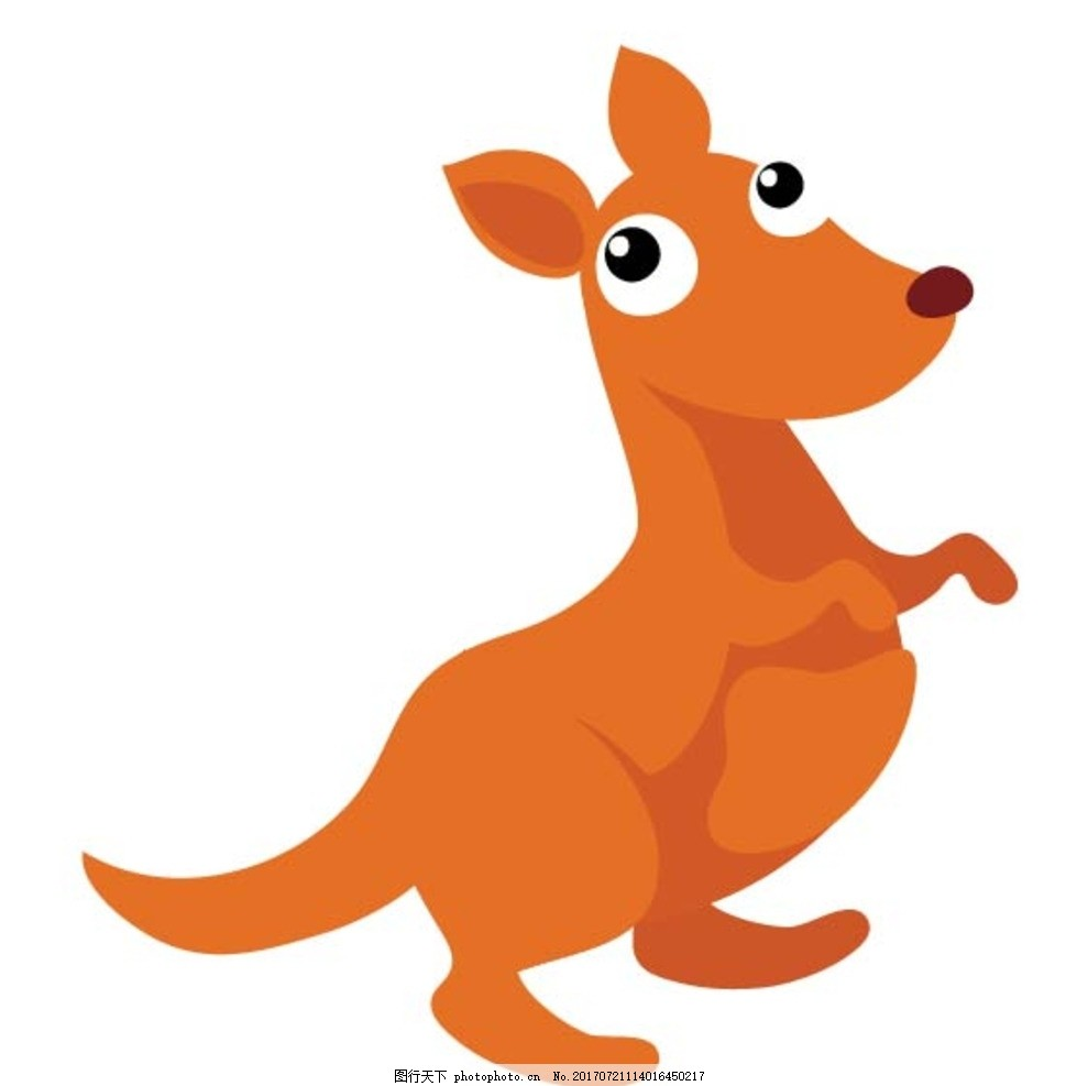 卡通袋鼠 卡通动物 动漫卡通 可爱 贺卡 动物插画 儿童绘本 儿童画画