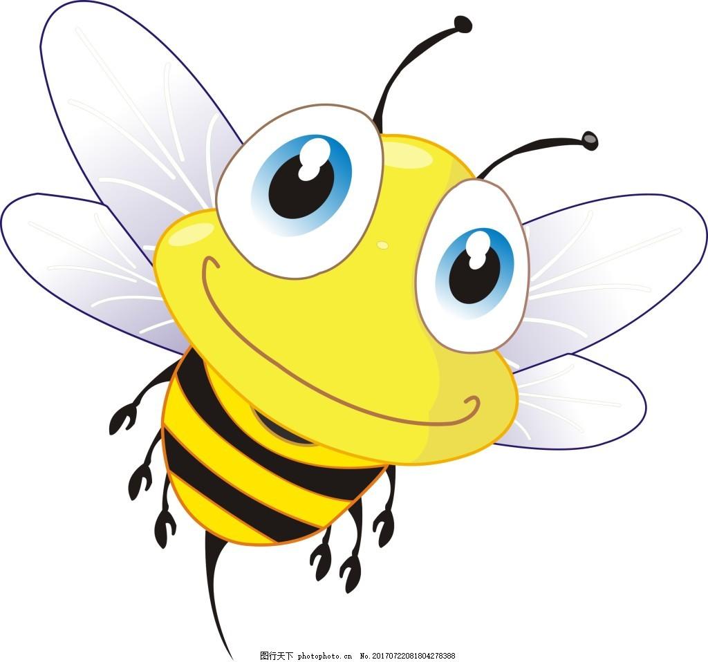 蜜蜂卡通图片_小蜜蜂插画图片_卡通动物_动漫卡通_图行天下图库