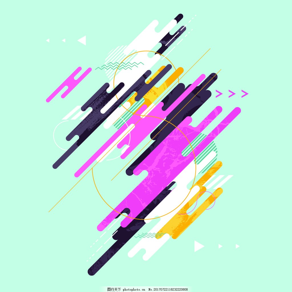时尚几何背景圆点线条H5潮流背景海报矢量