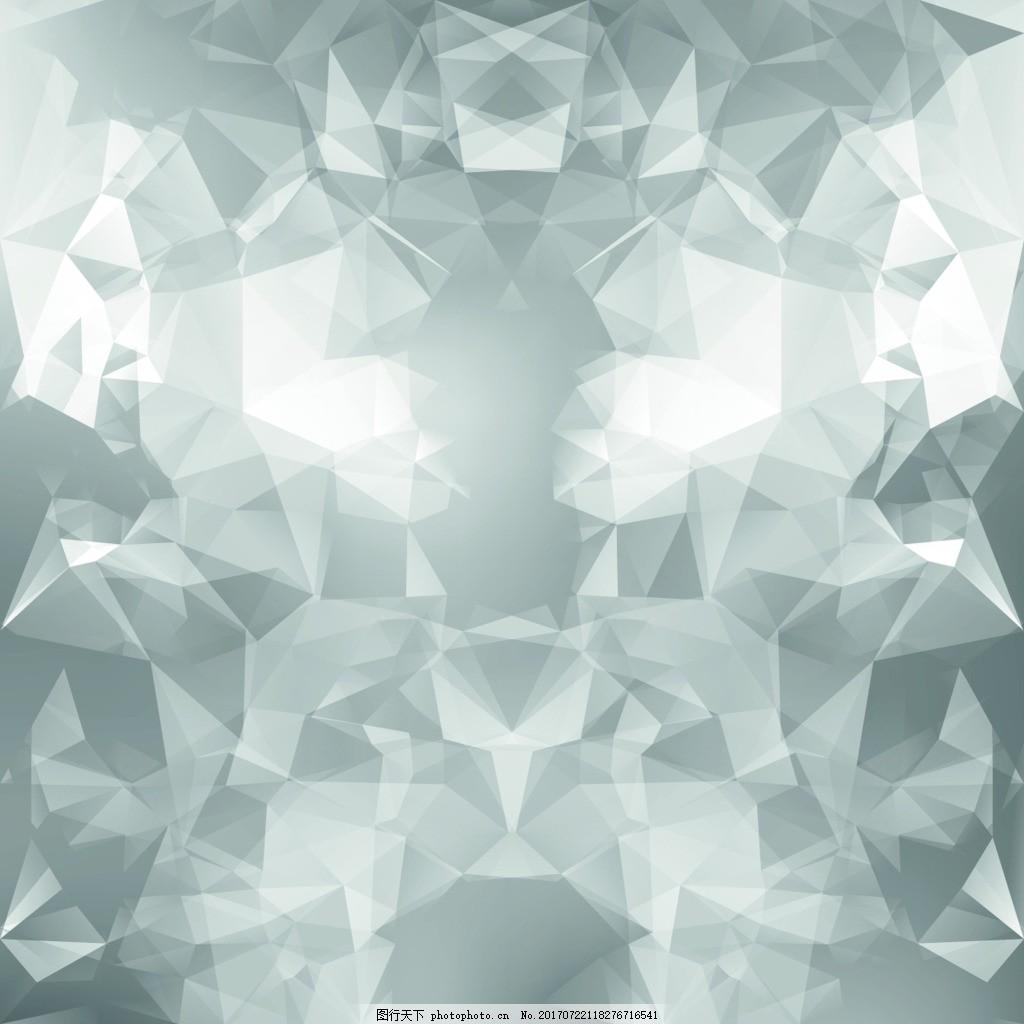 不规则几何背景矢量 白色 三角形 立体 科技 方格 商务 企业