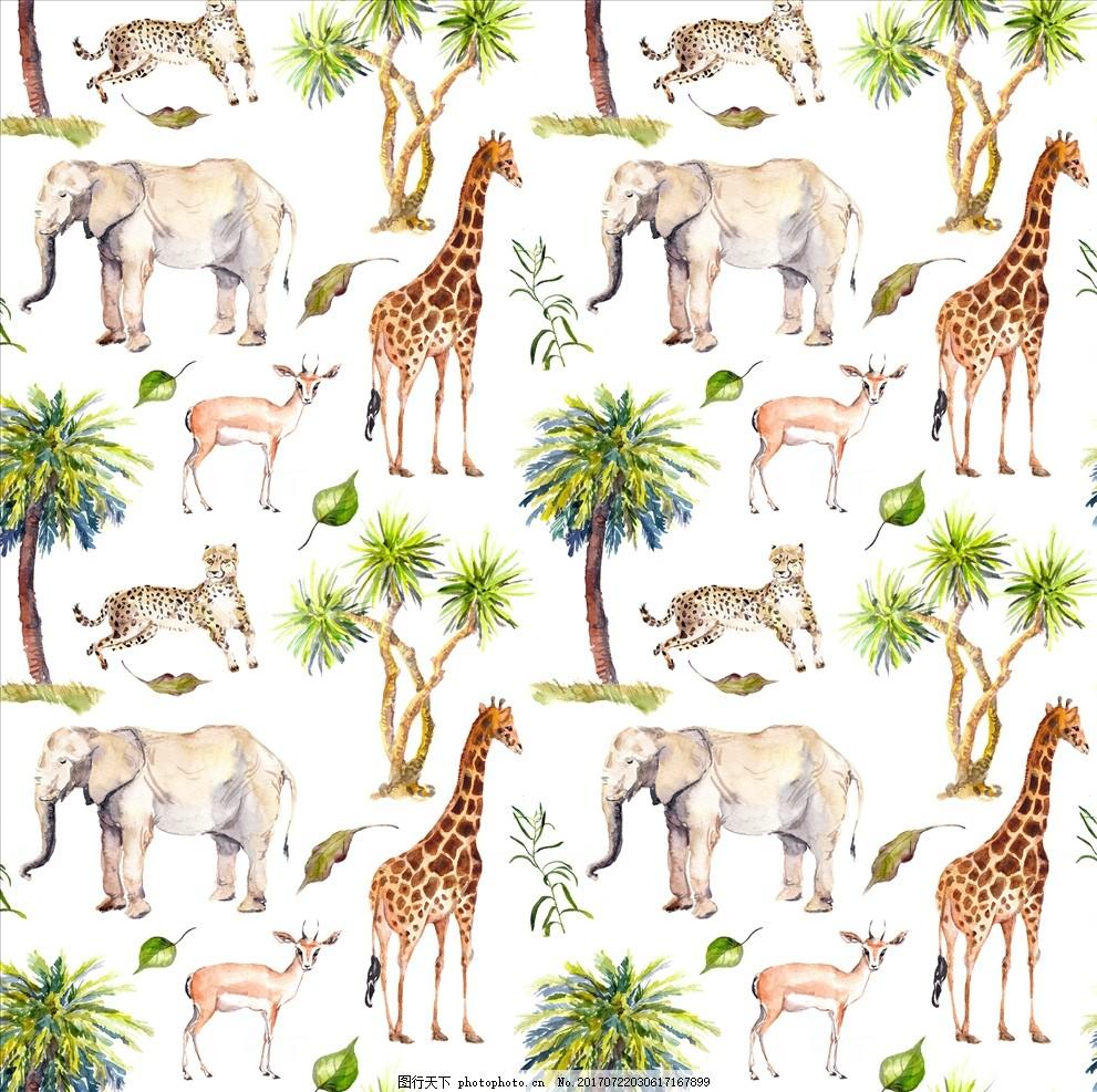 潮流服装印花 潮牌设计 面料印花 布料印花 贴纸图案 森林 丛林大树