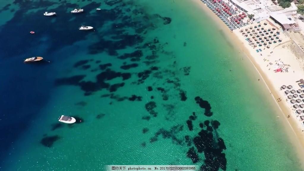 航拍海洋风景视频 视频背景 视频素材 视频模版 航拍视频