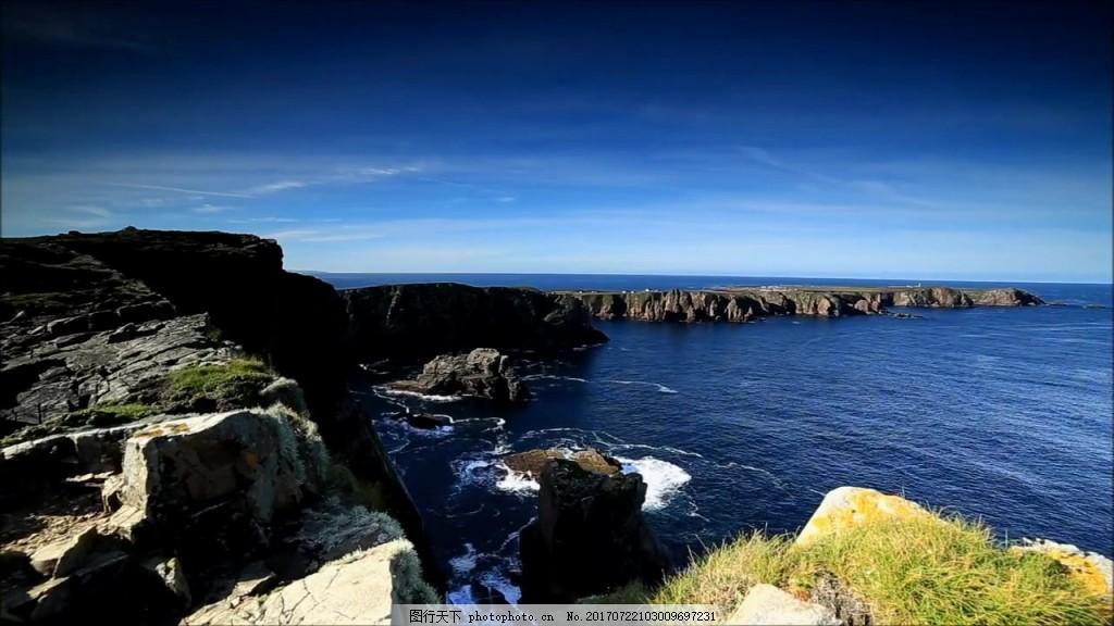 海岸风景视频素材 视频背景 视频模版