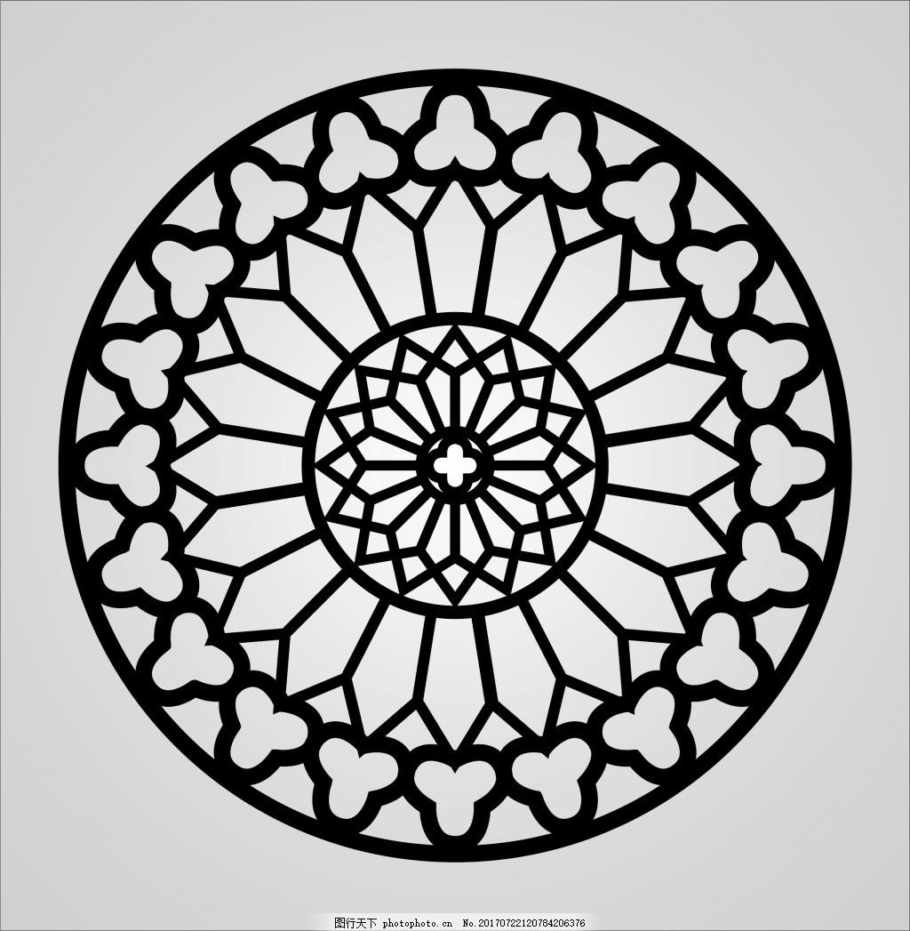 欧式圆形花纹 圆形镂空 简欧 艺术玻璃 浮雕 精品图案 底纹背景
