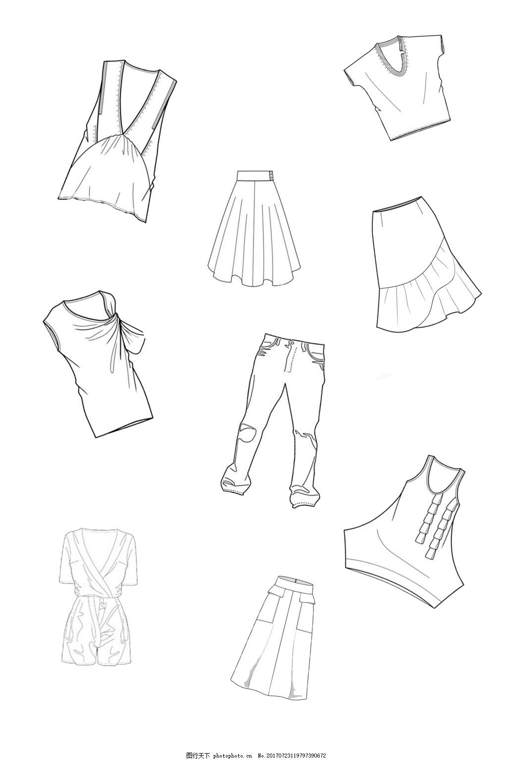 服装线稿设计图