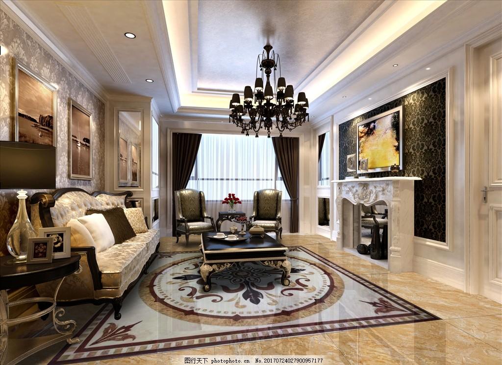 地板拼花 客厅 欧式客厅 客厅装修 室内装修 建材