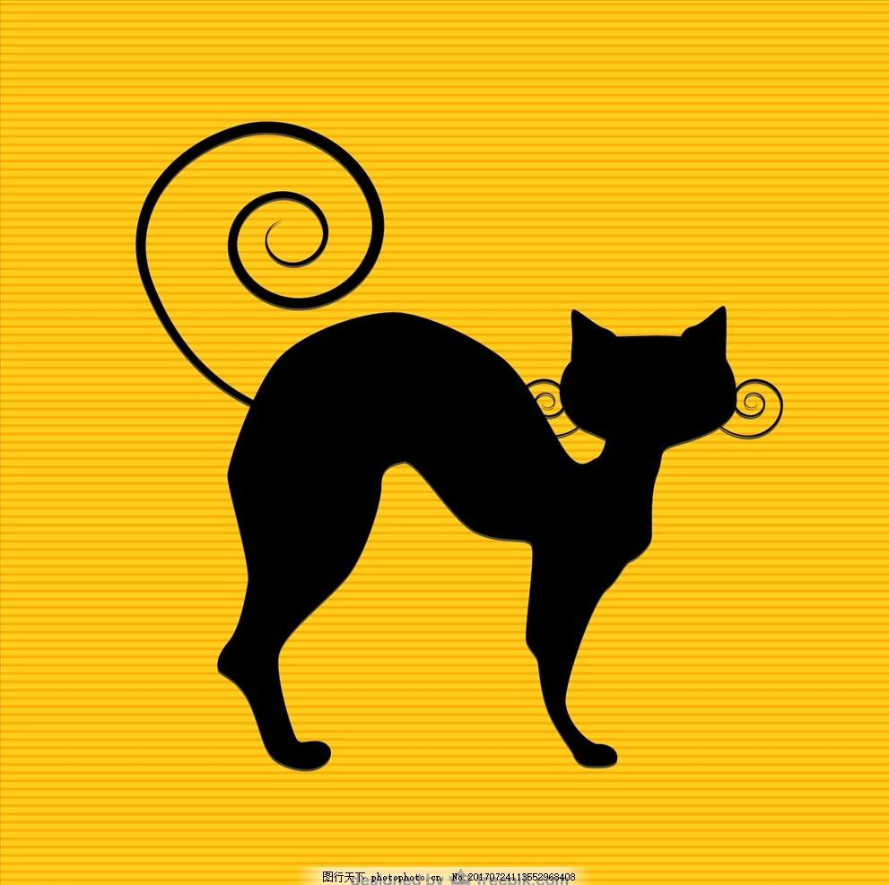 儿童画画 卡通动物漫画 矢量图 卡通漫画 q版动 物 猫 喵喵 可爱猫