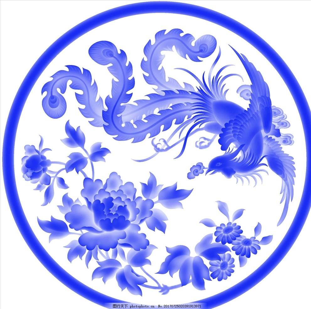 图案 青花瓷盘 瓷器 古董 青花瓷罐 陶瓷 官窑 青花花鸟小罐 青花牡丹