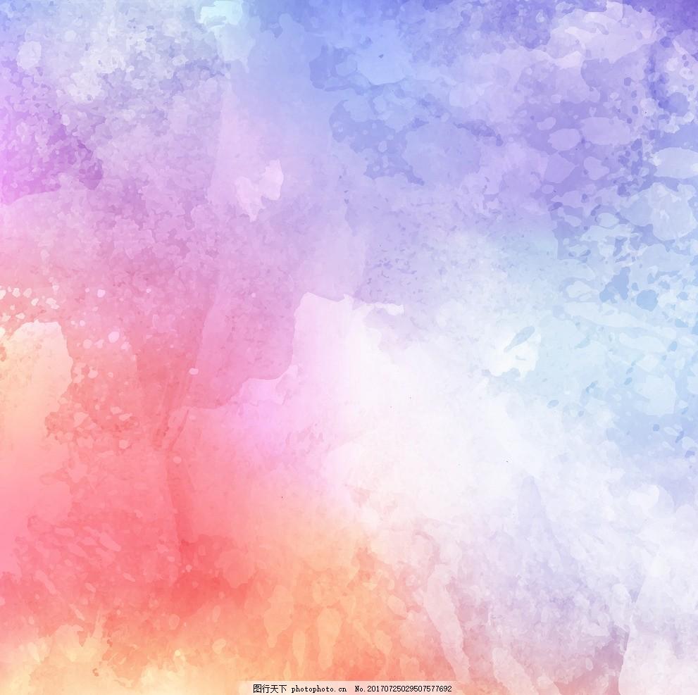 彩色墨水渲染-水粉背影