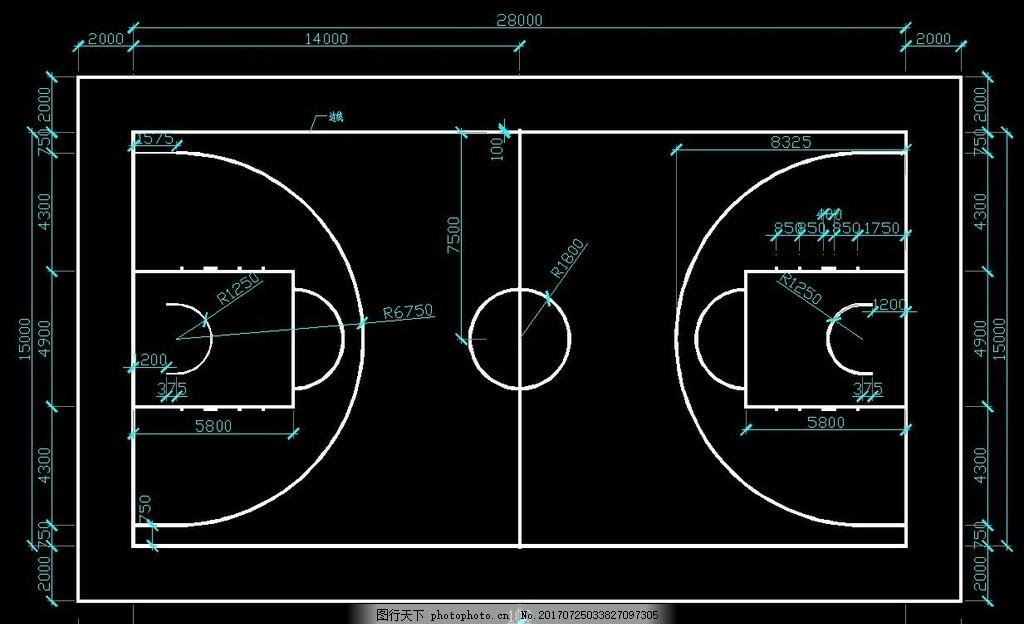 国际标准篮球场