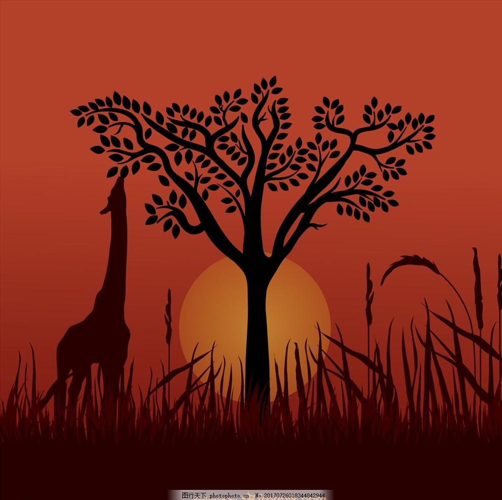 童话动物 野生动物 卡通动物 手机壳图案 插画图案 书本子封面 扁平