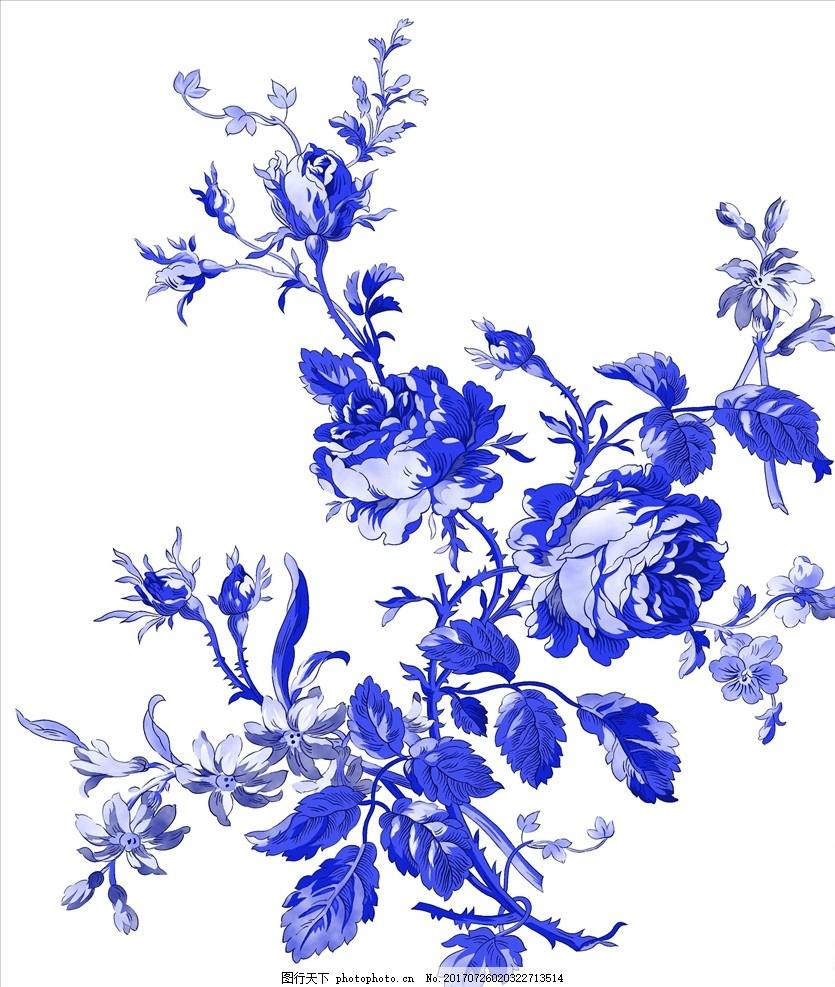 古典图案 青花图案 花瓶图案 衣服图案 桌布图案 台布图案 青花瓷盘