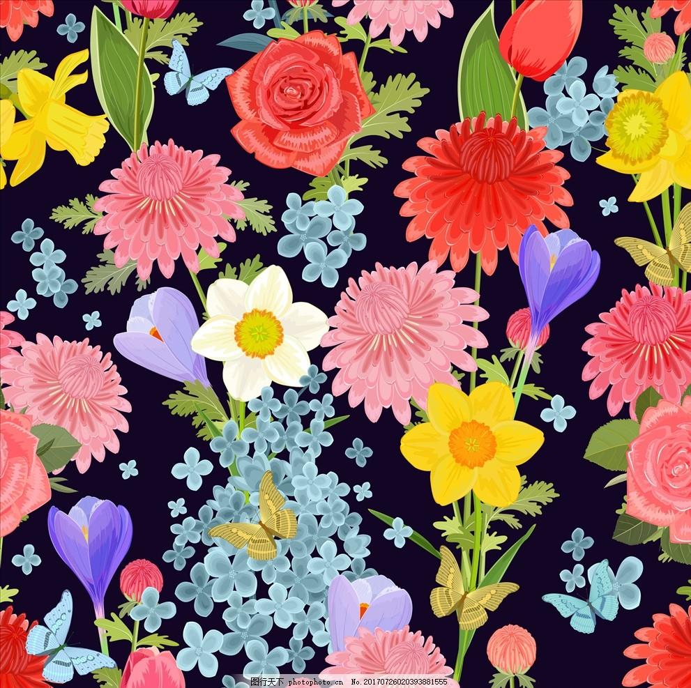 手绘热带植物花卉图案矢量素 手绘 叶子 植物 绿叶 树叶纹路 树叶底纹
