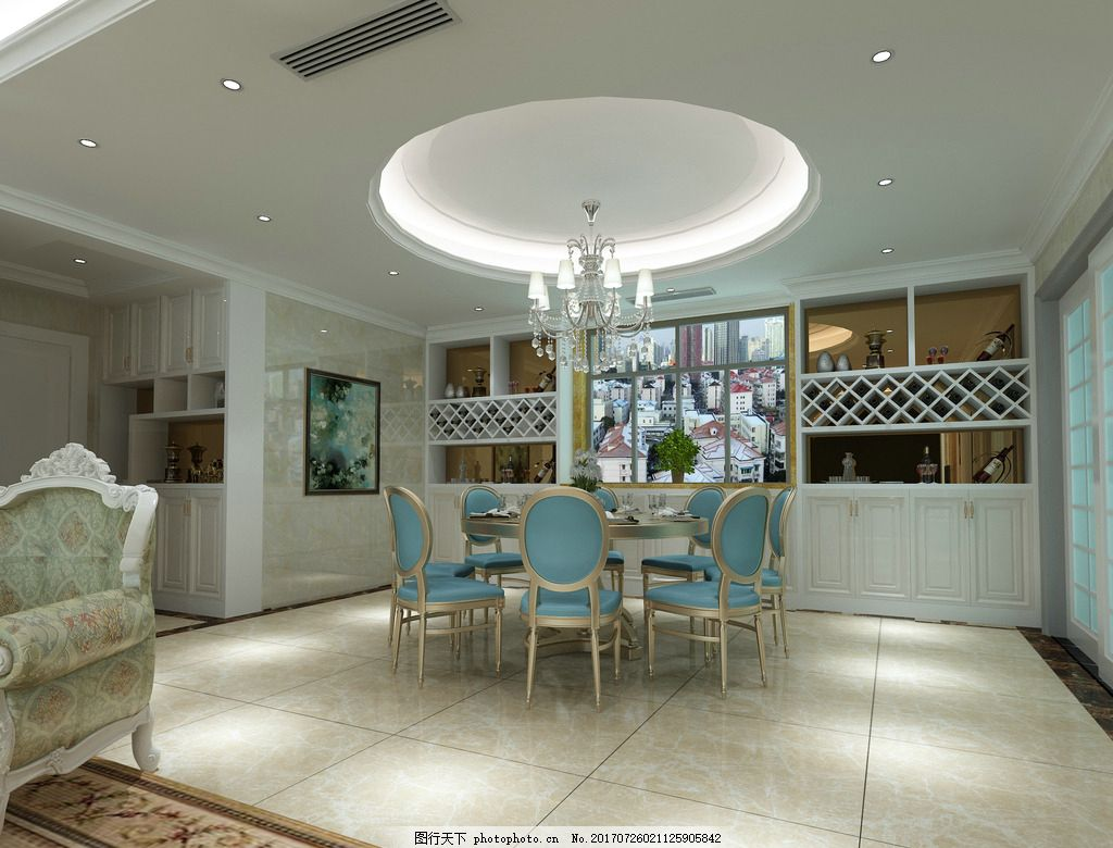 餐厅        欧式餐厅 欧式 装修 室内设计 设计 3d设计 3d设计 300
