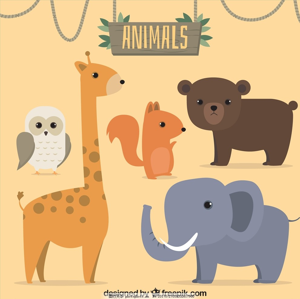 儿童绘本 儿童画画 卡通动物漫画 矢量图 卡通漫画 q版动物 花鸟图
