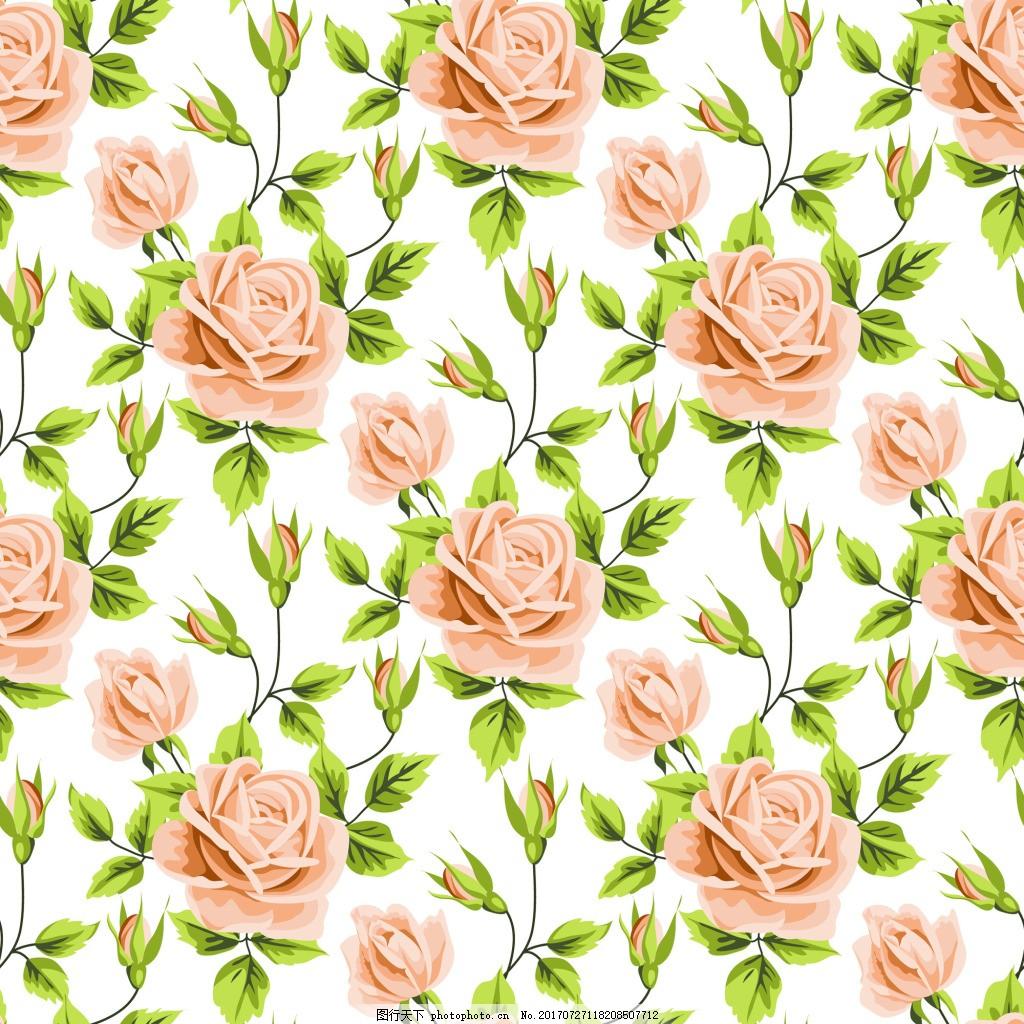 手绘黄色玫瑰花蕾丝矢量背景 爱情 可爱 卡通 平面设计素材 填充背景