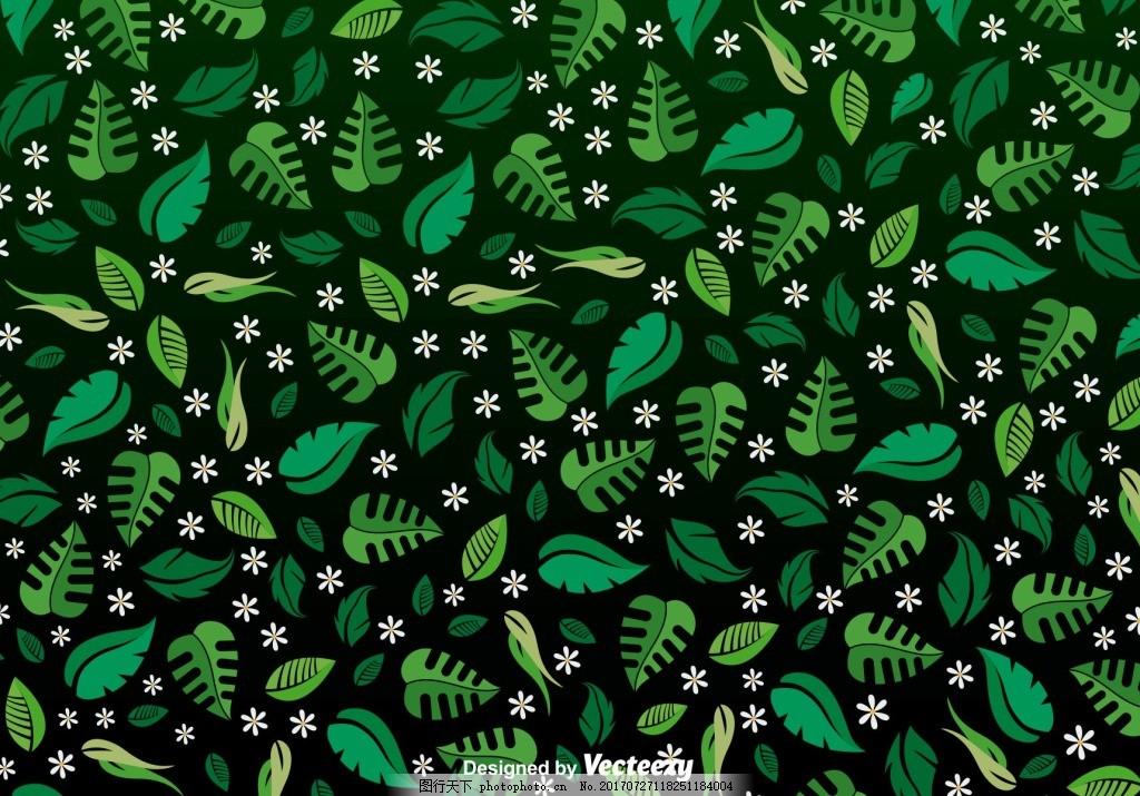 清新绿色植物小花背景 大气 海报 纹理 画册 简约 界面 时尚