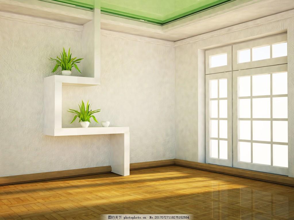 简约窗格背景墙背景 时尚 北欧风格 室内装饰 白色窗格 推拉门