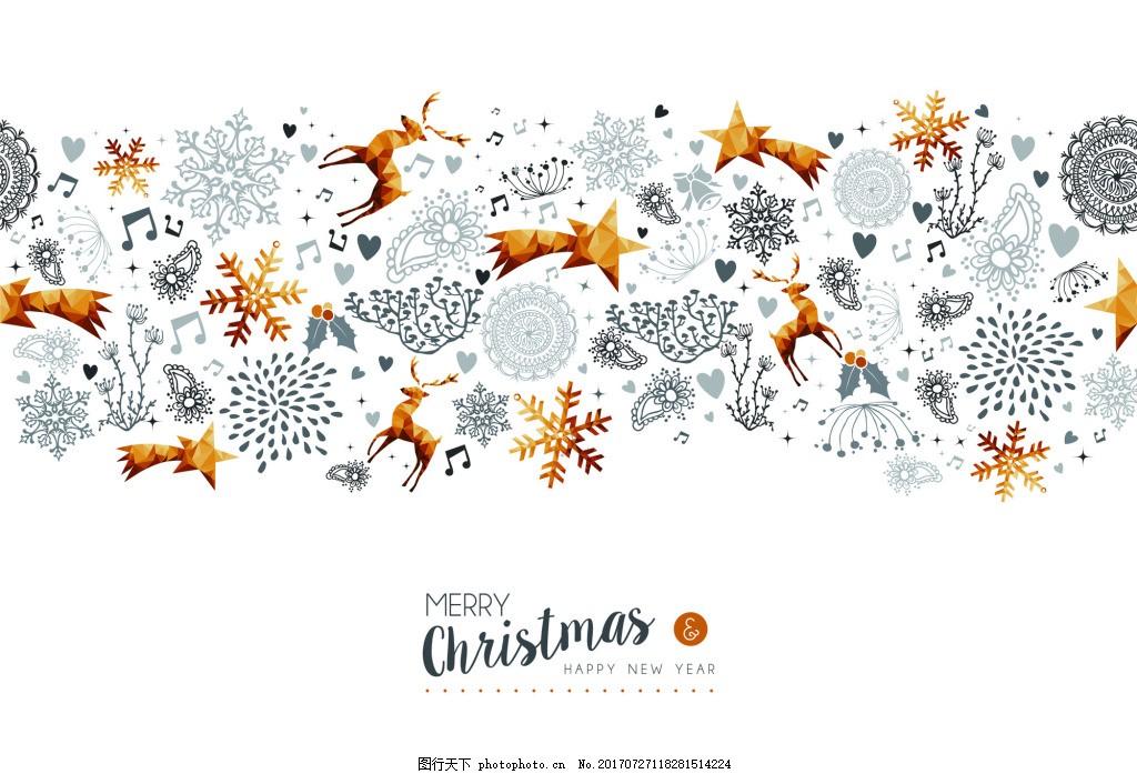 金色圣诞节新年装饰背景矢量素材 节日