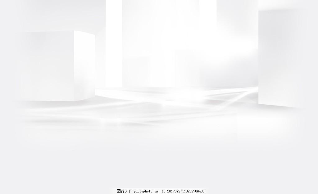 简约白色几何背景 时尚 阳光 光泽 建筑 现代 背景素材