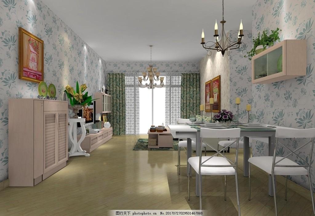 客廳 臥室 裝修效果圖 房間裝修圖 家具擺設 吊燈裝飾 臥房裝修圖