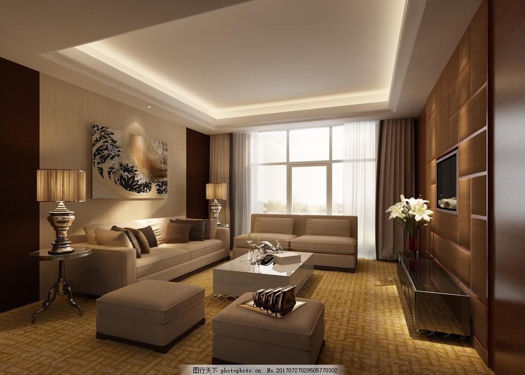 客厅 卧室 装修效果图 房间装修图 家具摆设 吊灯装饰 卧房装修图